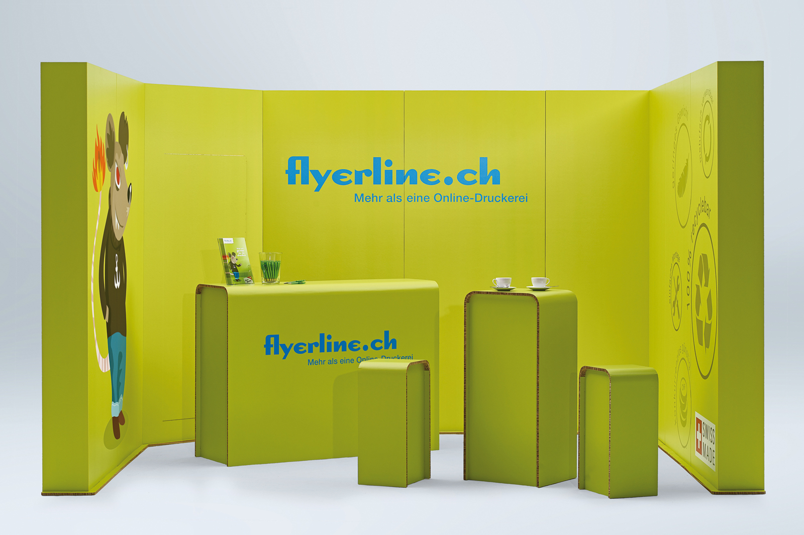 With its new standardised trade fair booths, Flyerline presents an impressively modular system that offers easy assembly and disassembly.