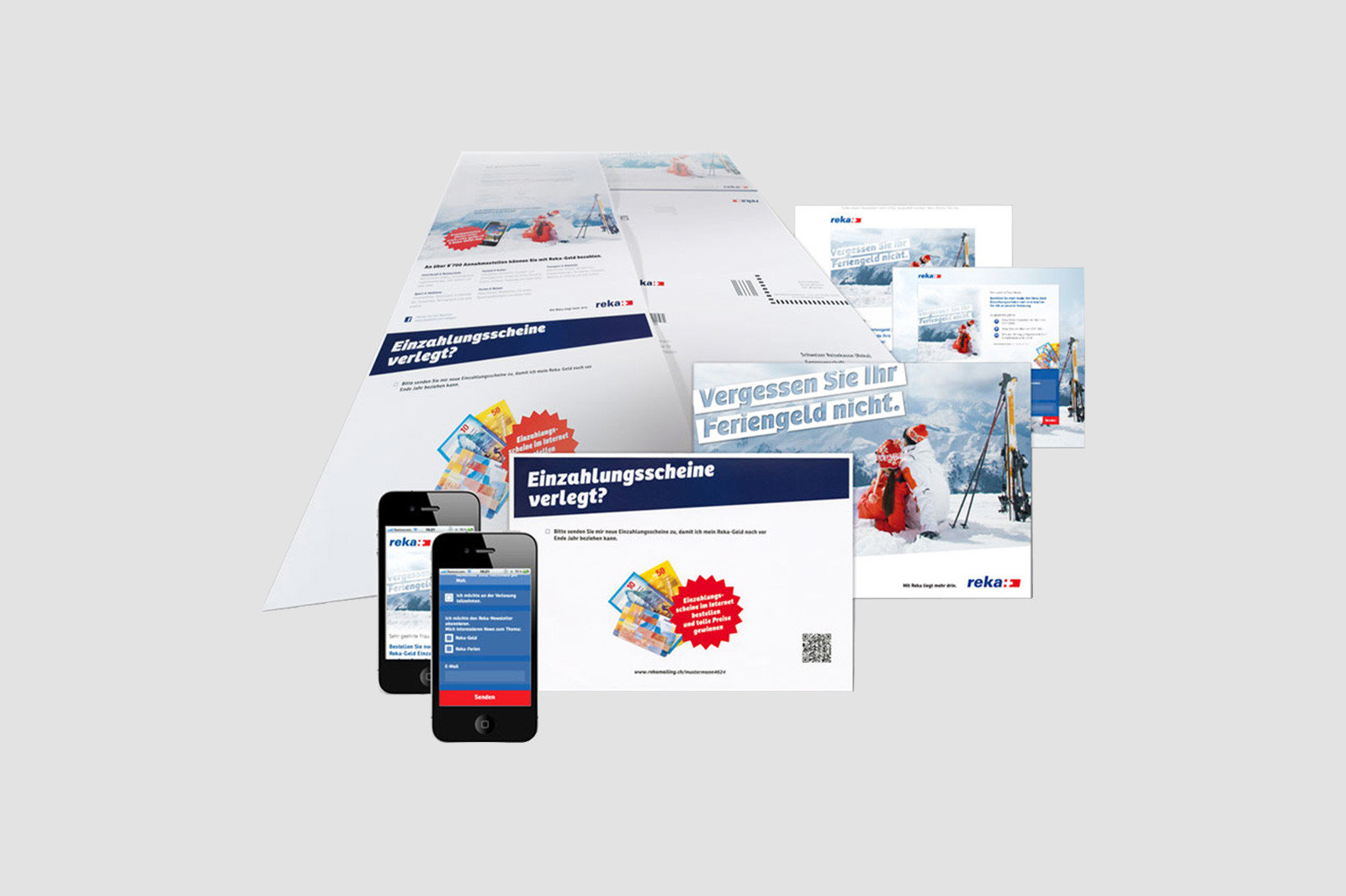 Print, personalized landing page for web, mobile, and e-mail marketing.